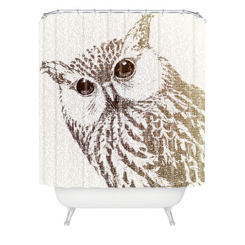 Belle13 The Intellectual Owl Shower Curtain