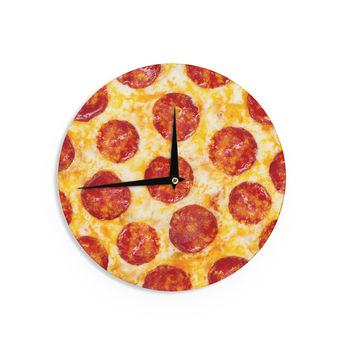 "KESS Original ""Pizza My Heart"" Pepperoni Cheese Wall Clock"