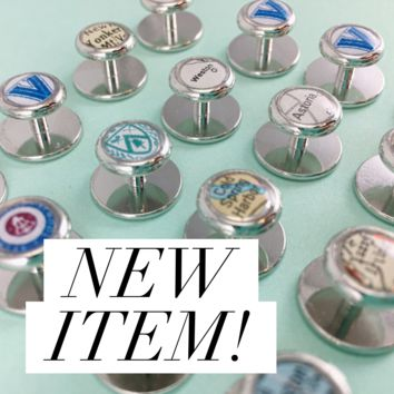 DLK Designs Personalized Map, Photo or Logo Tuxedo Studs