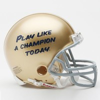 Riddell Notre Dame Fighting Irish ''Play Like A Champion Today'' Mini Helmet (Yellow)
