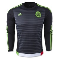 Mexico 2015 LS Home Soccer Jersey - WorldSoccerShop.com
