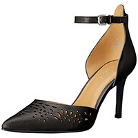 Nine West Womens Shesgone Leather Pointed Toe Pumps