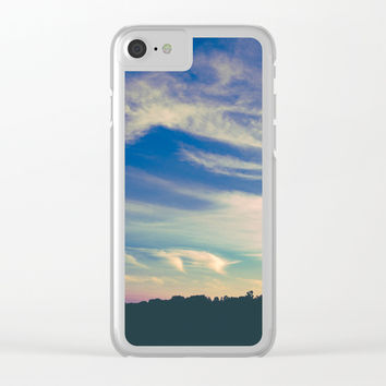 Cross My Mind Clear iPhone Case by Faded  Photos