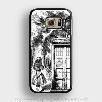 alice in tardis dr Who Samsung Galaxy S6 Edge Case, Samsung Cases