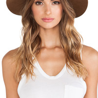 Janessa Leone Savoy Hat in Tan
