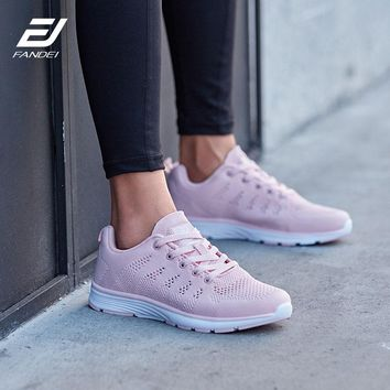 FANDEI Winter Running Shoes Women Sneakers Outdoor Sport Shoes Designer Sneakers for Men Breathable Mens Zapatillas Hombre Mujer