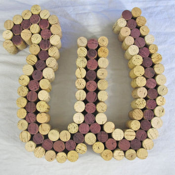 Wine Cork Letter Cork Art  Made to Order by LMadeIt on Etsy