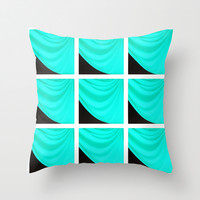 Blue Waves Throw Pillow by 2sweet4words