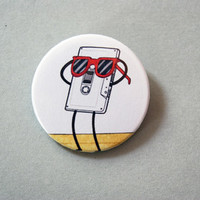 "Regular Show - Summertime lovin´ tape 1x1.5"" pinback button badge from Stickerama"