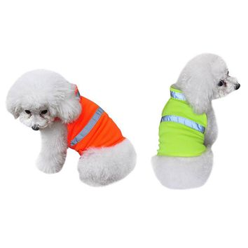 Pet Dog Reflective Vest Fluorescent Security Safe Dog Clothing Coat Dog Costum Safety Luminous Waterproof Pet Clothing