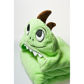 Dino Faced Hooded Cotton Turkish Towel