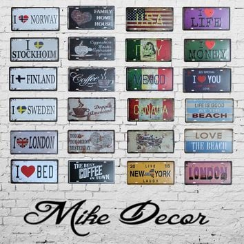 Super Hot License Plates Vintage Tin Sign Art  Wall Plaque decor Home Metal Painting Bar 30*15 CM FG-112