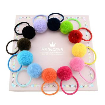 12pcs/Lot Ball Stretch Hair Ties Rope Ring Band Ponytail Holder Headbands Accessories for Baby Toddler Girls Kids Children