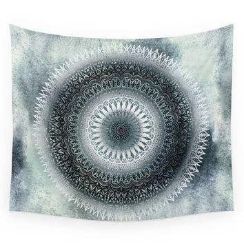 Society6 WINTER LEAVES MANDALA Wall Tapestry