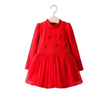 long sleeve dress for baby girls winter dress