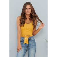 Counting On You Crop Top (Sunflower)