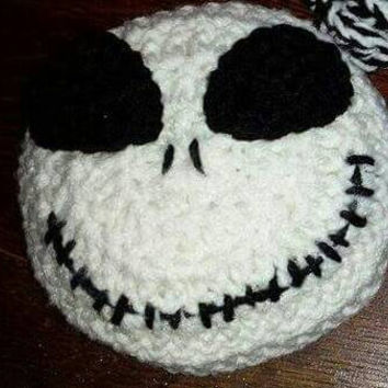Crochet Jack skellington head-nightmare before Christmas wreath accessories-jack skellington wreath addition