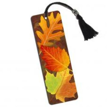 Colorful Autumn Leaves Printed Bookmark