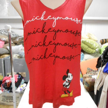 """Disney Juniors' """"Mickey Mouse"""" Tank Top, Red, Small"""