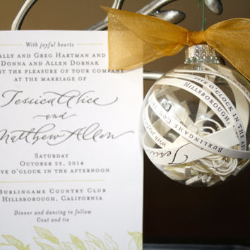 Shop Christmas Wedding Invites on Wanelo
