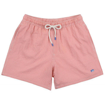 Seersucker Swim Trunks in Coral Beach by Southern Tide