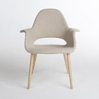 RETRO ARM CHAIR CREAM FABRIC