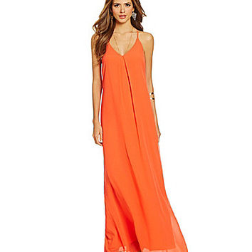 Gianni Bini Rachel Pleated Maxi Dress - Scarlet