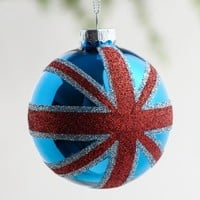 Glass Union Jack Ornament