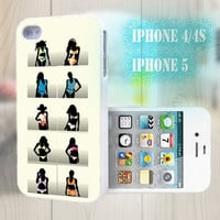 unique iphone case, i phone 4 4s 5 case,cool cute iphone4 iphone4s 5 case,stylish plastic rubber cases cover, yellow  girl silhouette  bp976