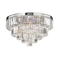 15216/6 Palacial 6 Light Chandelier In Polished Chrome - Free Shipping!