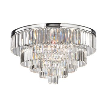 15216/6 Palacial 6 Light Chandelier In Polished Chrome