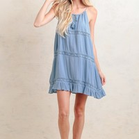 Off To Sea Crochet Detail Dress | Ruche