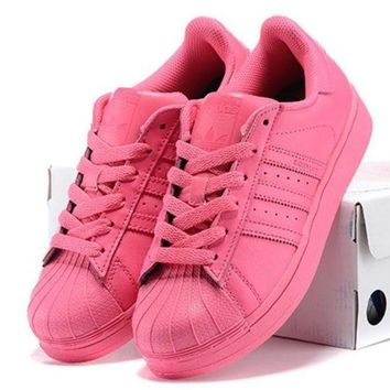 DCCKIJG Adidas' Fashion Shell-toe Flats Sneakers Sport Shoes Pure color Roses