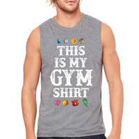 pokemon this is my gym shirt Muscle Tank