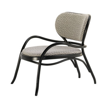 Coates Lehnstuhl Bentwood Upholstered Lounge Chair by GTV