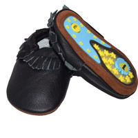 Crazy Feet Moccs- Rubber Sole Baby Moccs