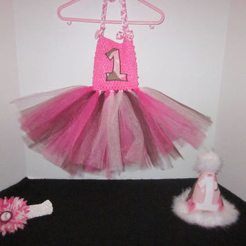 Girls Pink Camo 1st Birthday Tutu Hairbow Outfit By Sweetpeas Bows & More
