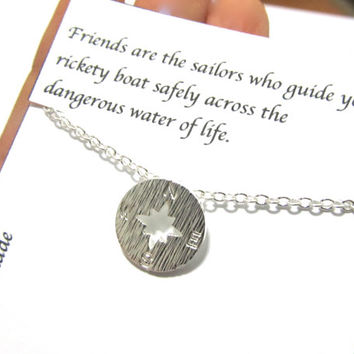 Birthday friendship best friend gift compass necklace,A2,birthday compass necklace,friendship compass necklace,best friend compass necklace