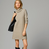 CABLE-KNIT DRESS - View all - Dresses & Skirts - WOMEN - United States of America / Estados Unidos de América