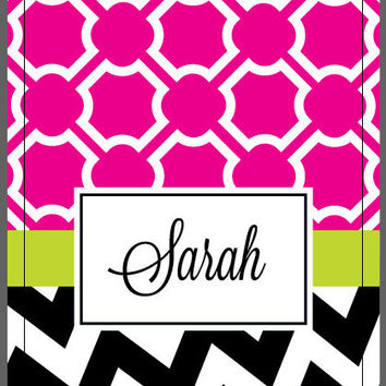 iPhone 4 4s Otterbox Commuter Case Monogrammed Personalized Chevron Trellis