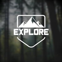 explore vinyl decal, car window sticker, laptop decal, explore mountains sticker, yeti decals, iphone decal, macbook stickers, hiking design