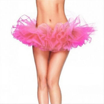 Adult Tulle Tutu Skirt Lady's Mini Skirt Fancy Outfit Costume Petticoat One Size 13 Colors - ALX-BB