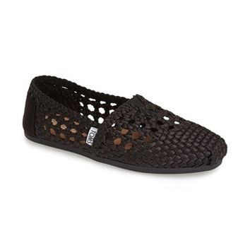 Women's TOMS 'Satin Woven - Classic Alpargata' Slip-On,