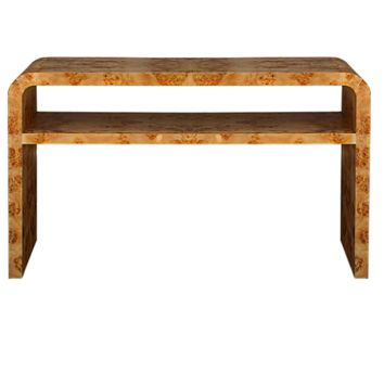 Worlds Away Marshall Two Tier Burl Wood Console