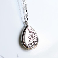 "Aromatherapy Essential Oil Diffuser Necklace - Stainless Steel Jewelry - Hypo-allergenic 316L Surgical 30 mm Locket Pendant with 24"" Chain & 3 Washable Pads (Model Peacock)"