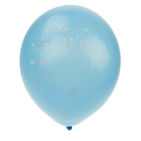 Latex Balloons Baby Shower, Its A Boy, 12-inch, 12-pack, Blue