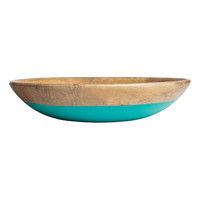 H&M - Wooden Bowl - Turquoise