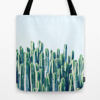 Cactus V2 #society6 #decor #fashion #tech #designerwear Tote Bag by 83oranges.com | Society6
