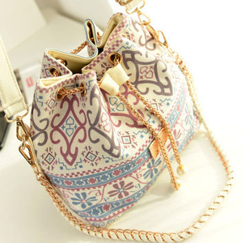 Stylish Korean Chain Canvas One Shoulder Bags [6581834951]