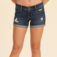 Girls Low-Rise Denim Midi Shorts | Girls Bottoms | HollisterCo.com